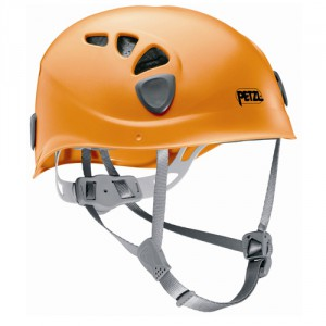 Casque de montagne orange petzl casque